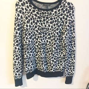 Ann Taylor | Leopard Print Wool Blend Sweater A20